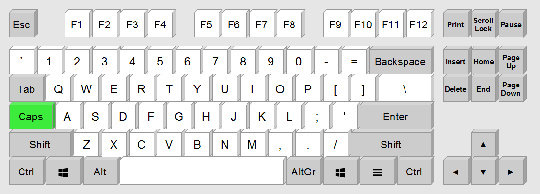 Layout with Caps Lock